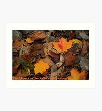 The Heart of the Leaf Grows Red Art Print
