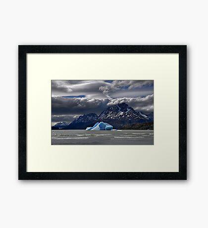 Iceberg, Mountains and Sky Framed Print
