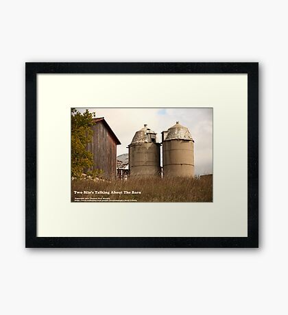 Two Silos Talking About The Barn Framed Print
