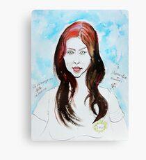 The Auburn Hair Blue Eyes Girl Canvas Print