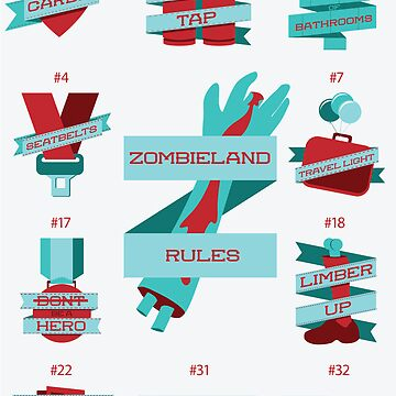 Rules of Zombieland Poster by chris3290