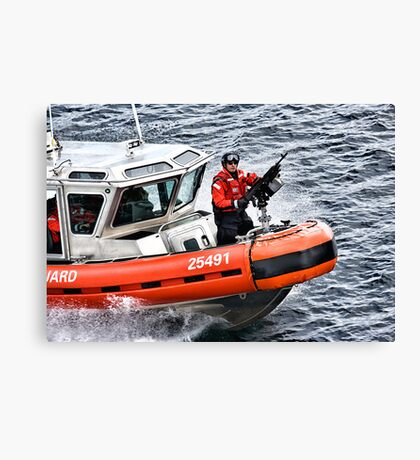 US Coast Guard At Work Canvas Print