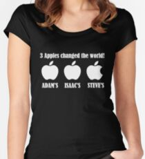 3 Apples Changed The World - Tribute - Steven/Steve Jobs R.I.P Women's Fitted Scoop T-Shirt