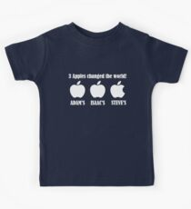 3 Apples Changed The World - Tribute - Steven/Steve Jobs R.I.P Kids Tee