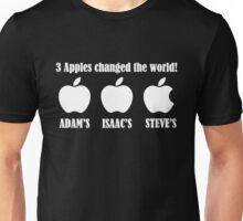3 Apples Changed The World - Tribute - Steven/Steve Jobs R.I.P Unisex T-Shirt