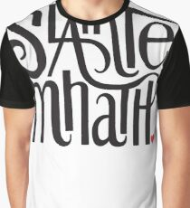 Slainte Mhath in black and red Graphic T-Shirt