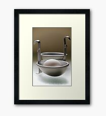 Poached, Not Fried Framed Print