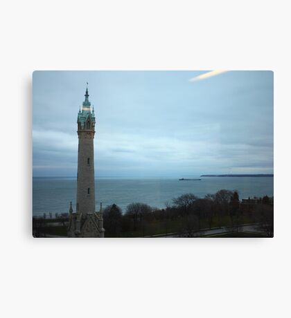 North Avenue Water Tower with Halo Canvas Print