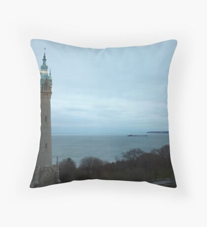 North Avenue Water Tower with Halo Throw Pillow