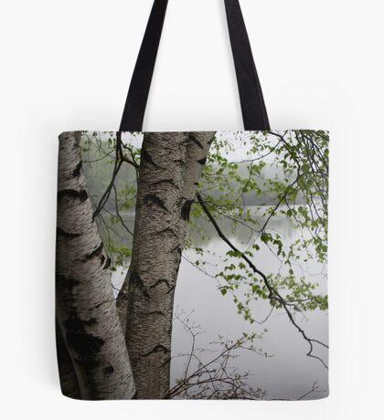 Birch Tree Waterscape 3229  Tote Bag