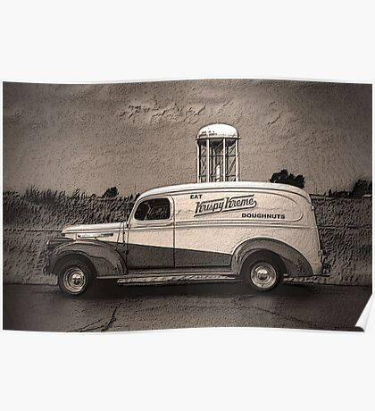 "1941 GMC Panel Truck ""Krispy Kreme Doughnuts"" Poster"