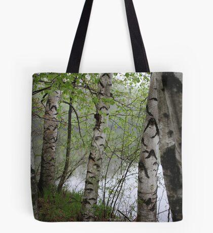 Birch Tree Waterscape 3228 Tote Bag