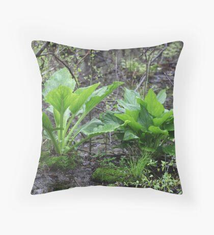 Ravine Trail Vegetation 3281 Throw Pillow