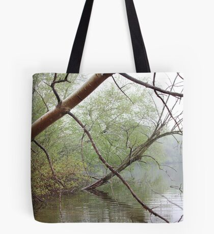 Birch Tree Waterscape 3203 Tote Bag