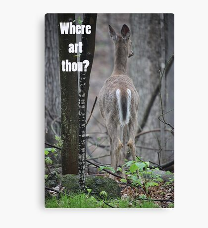Where art thou? Canvas Print