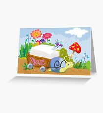 Snail Mail Greetings Greeting Card