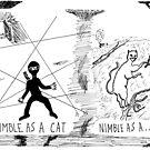 Nimble as a Cat ninja cartoon by bubbleicious