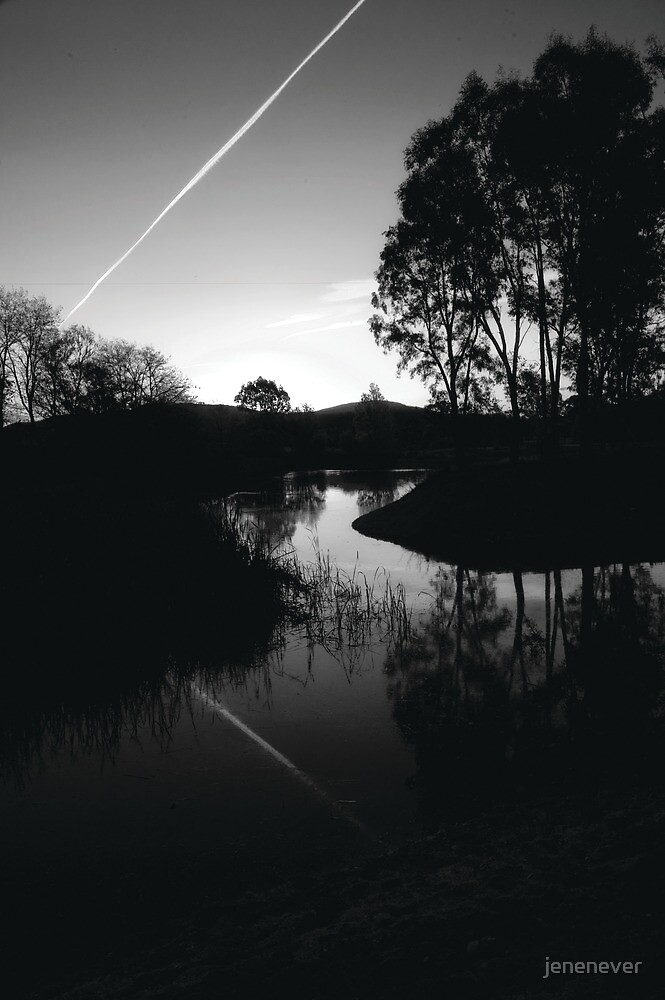 Sandy Creek lagoon at Dusk, North East Victoria by jenenever