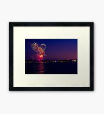 Geelong New Year's Fireworks 2011 Framed Print