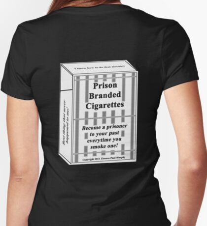 Prison Branded Cigarettes Women's Fitted V-Neck T-Shirt