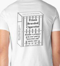 Prison Branded Cigarettes Mens V-Neck T-Shirt