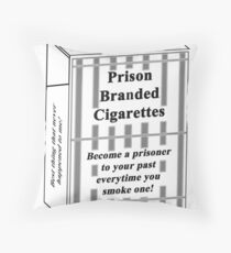 Prison Branded Cigarettes Throw Pillow