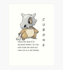 Pokedex cubone Art Print