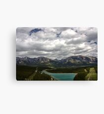 mountains and clouds Canvas Print