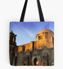 Mission San Jose as the sun goes down Tote Bag