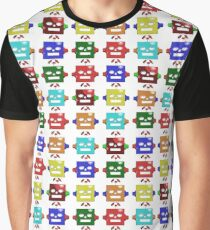 Colorful Robot Wallpaper Graphic T-Shirt