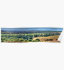 Patchwork - Jugiong, NSW Australia (30 Exposure Panorama) - The HDR Experience Poster