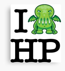 I Love HP Lovecraft - Cthulhu Canvas Print