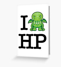 I Love HP Lovecraft - Cthulhu Greeting Card
