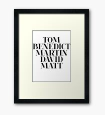 The British boyfriend Framed Print