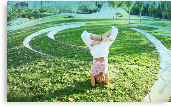 Headstand in full lotus  by Wari Om  Yoga Photography