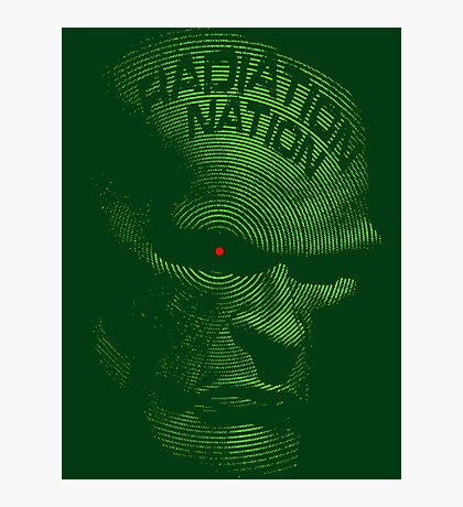 Radiation Nation (with text) Photographic Print