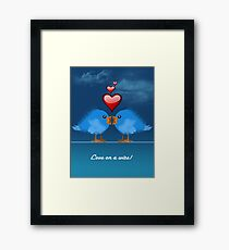 LOVE ON A WIRE Framed Print
