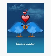 LOVE ON A WIRE Photographic Print