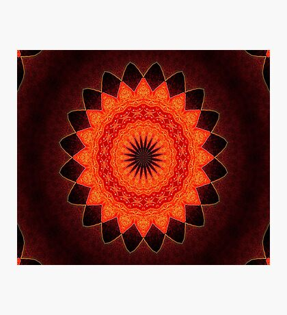 Kaleidoscope of Red Photographic Print