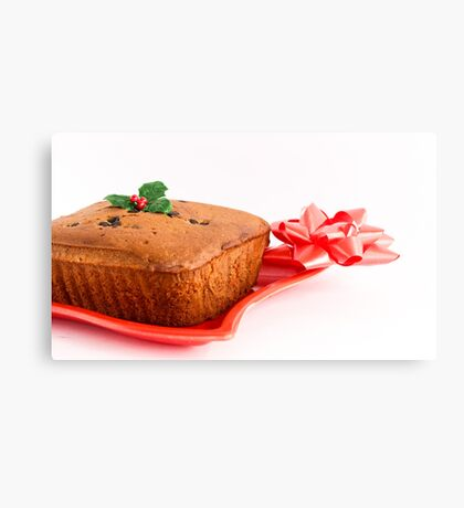Christmas Fruity Cake Canvas Print