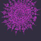 Heart Centred Mandala - pink print by TangerineMeg