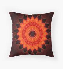 Kaleidoscope of Red Throw Pillow