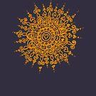 Heart Centred Mandala - orange print by TangerineMeg