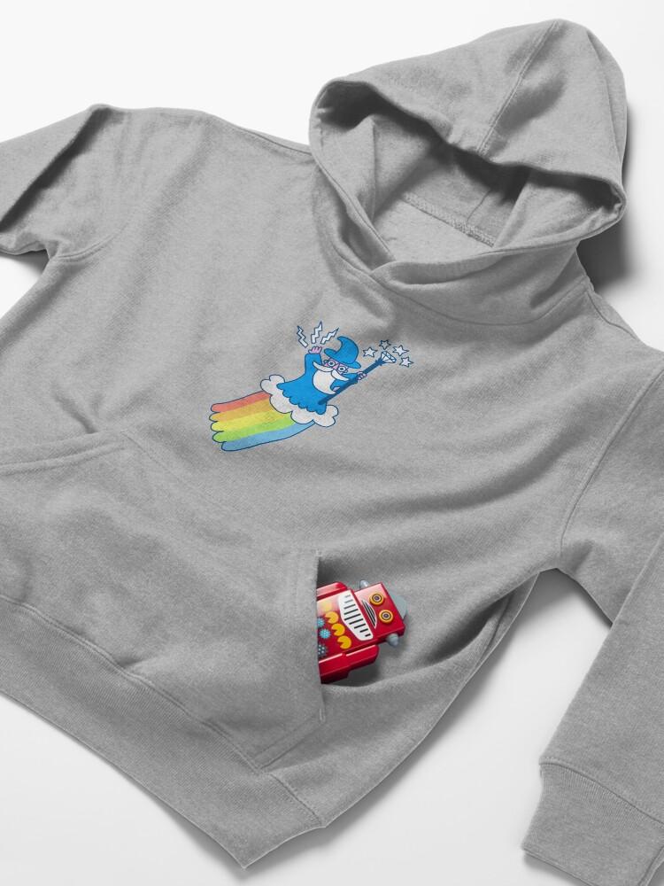 Alternate view of Rainbow Wizard Kids Pullover Hoodie