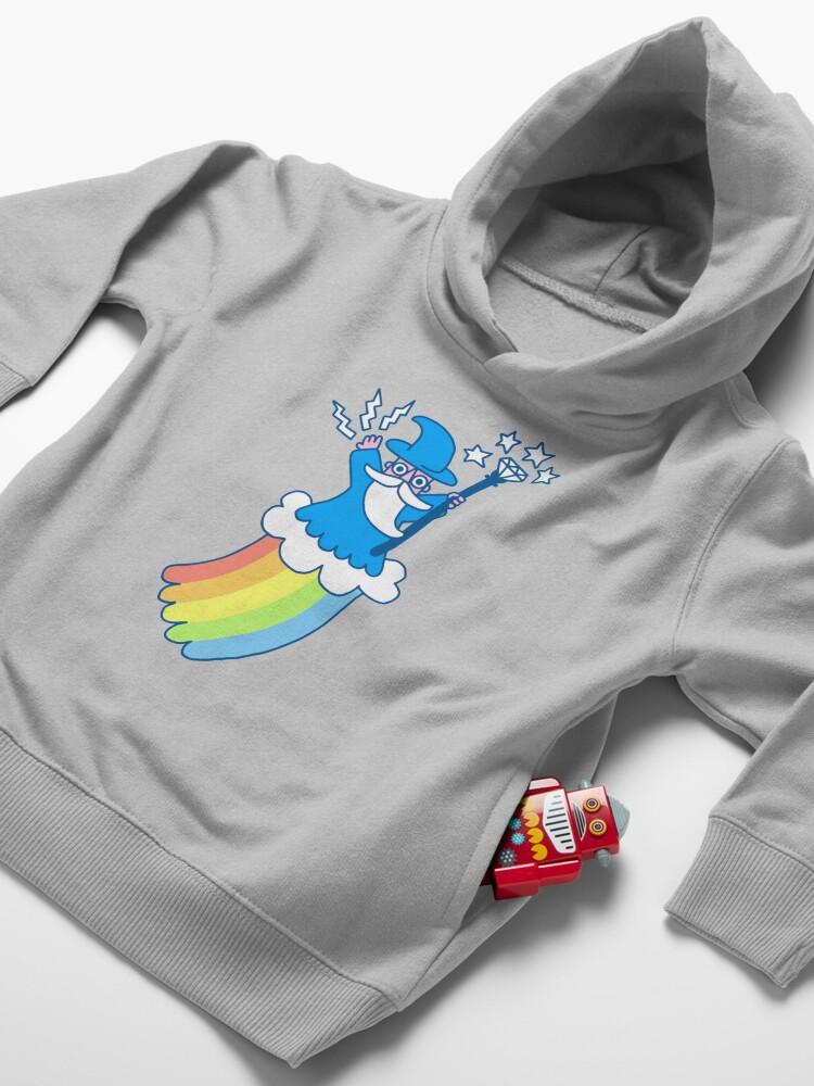 Alternate view of Rainbow Wizard Toddler Pullover Hoodie