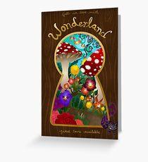 Travel to Wonderland Greeting Card