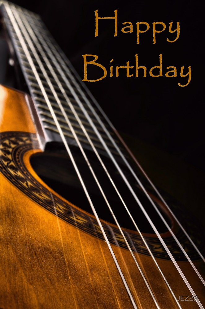 Guitar birthday card by jez22 redbubble guitar birthday card by jez22 bookmarktalkfo Choice Image