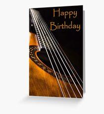 Guitar Birthday Card Greeting Card
