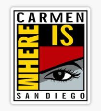Where is Carmen? Sticker