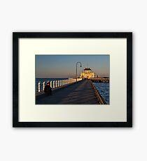 Coffe House at St. Kilda Beach Framed Print